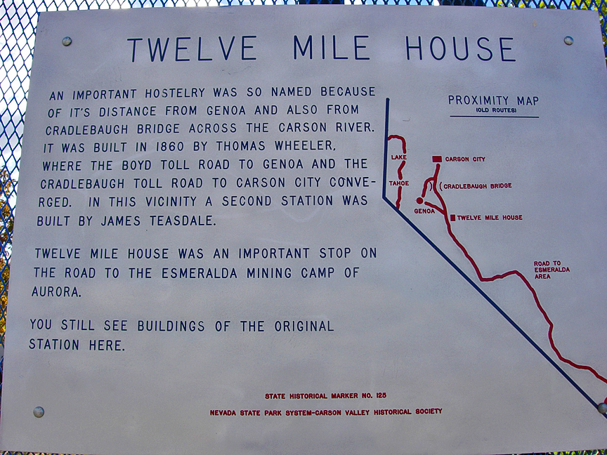 Marker 125 is one of only a handful of Nevada markers with a mapped plaque -- a marker rarity!