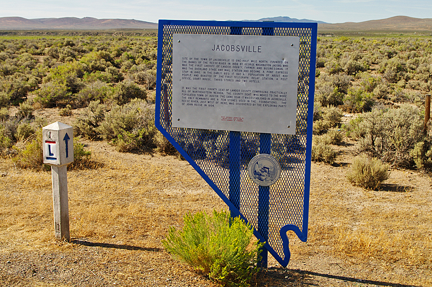 [66] Marker 66 represents the old station at Jacobsville, roughly 1 mile behind this marker