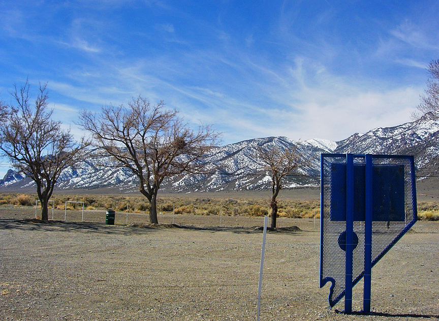 The beautiful Toiyabe Range dominating the skyline at Marker 42